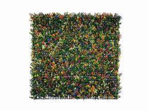 Kunstbloemenpaneel Buxus veelkleurig - 50x50 cm