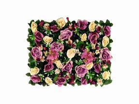 Kunstbloemenpaneel Roos en Hortensia - 40x60 cm