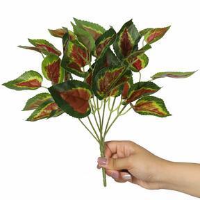 Kunstplant Basilicum rood 25 cm