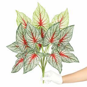Kunstplant Calladium veelkleurig 50 cm