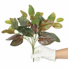 Kunstplant Fitonia rood 25 cm
