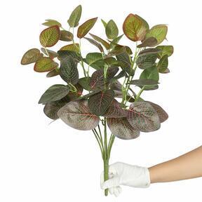 Kunstplant Fitonia rood 45 cm
