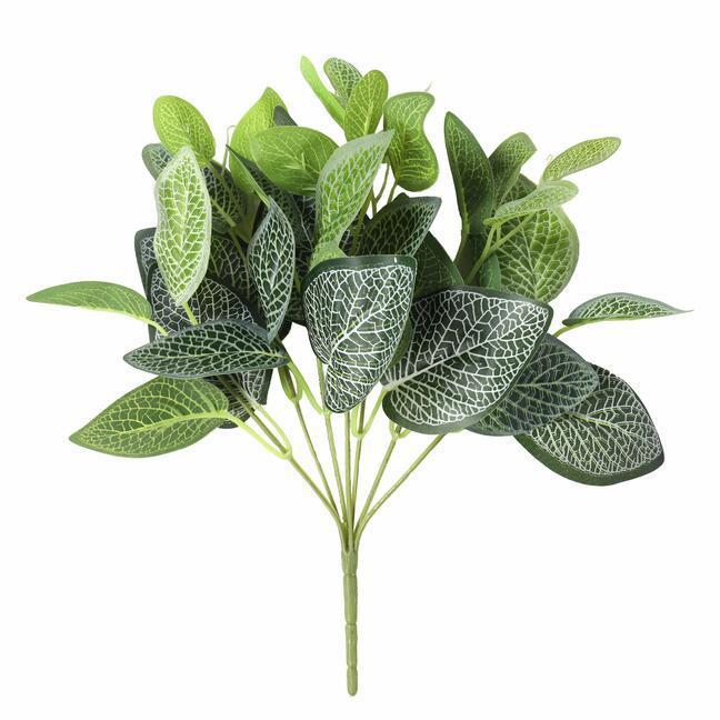 Kunstplant Fitónia wit 25 cm