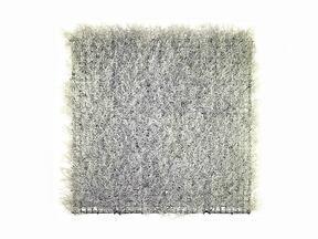 Zilver kunst paneel Calocephalus - 50x50 cm